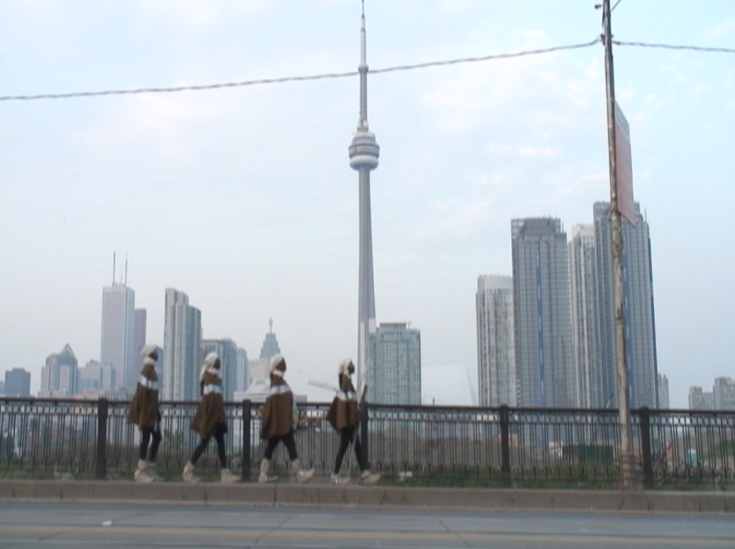 The Final Frontier series. Afronauts walking through the streets of Toronto.